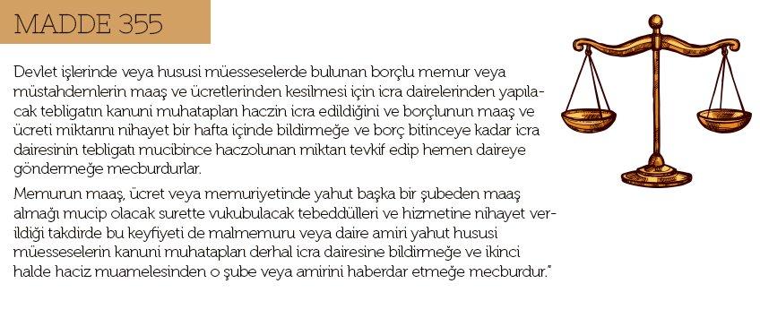 Maaş Haczi Madde 355